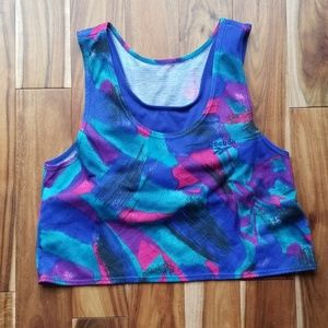 80s vintage work out crop top